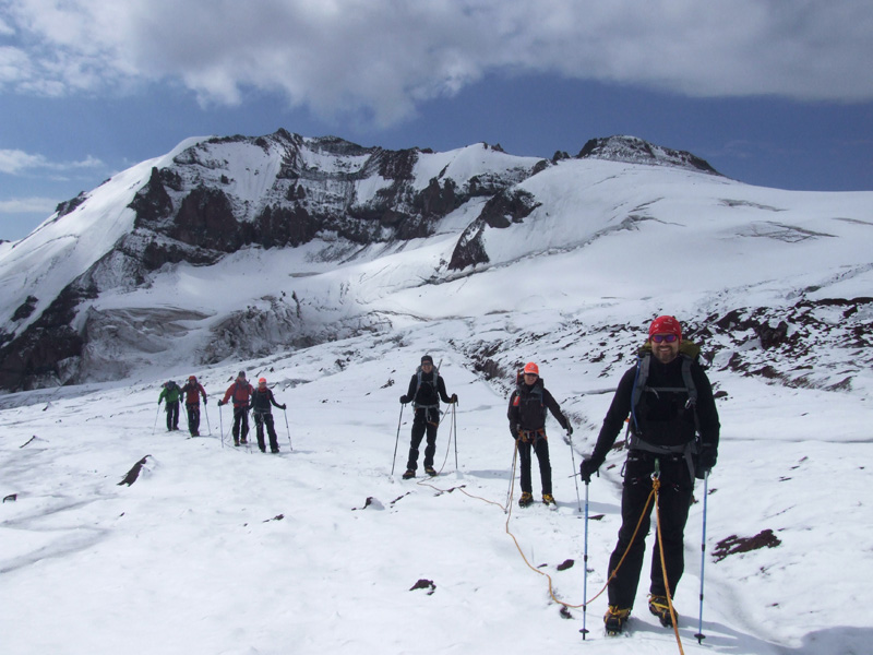 Climbing Kazbek