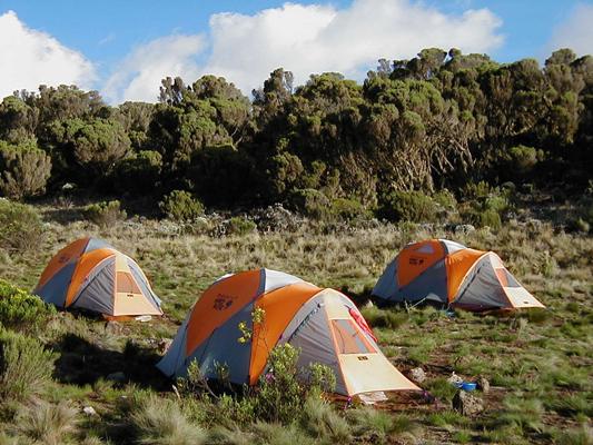 trekking al Kilimangiaro campi tentati